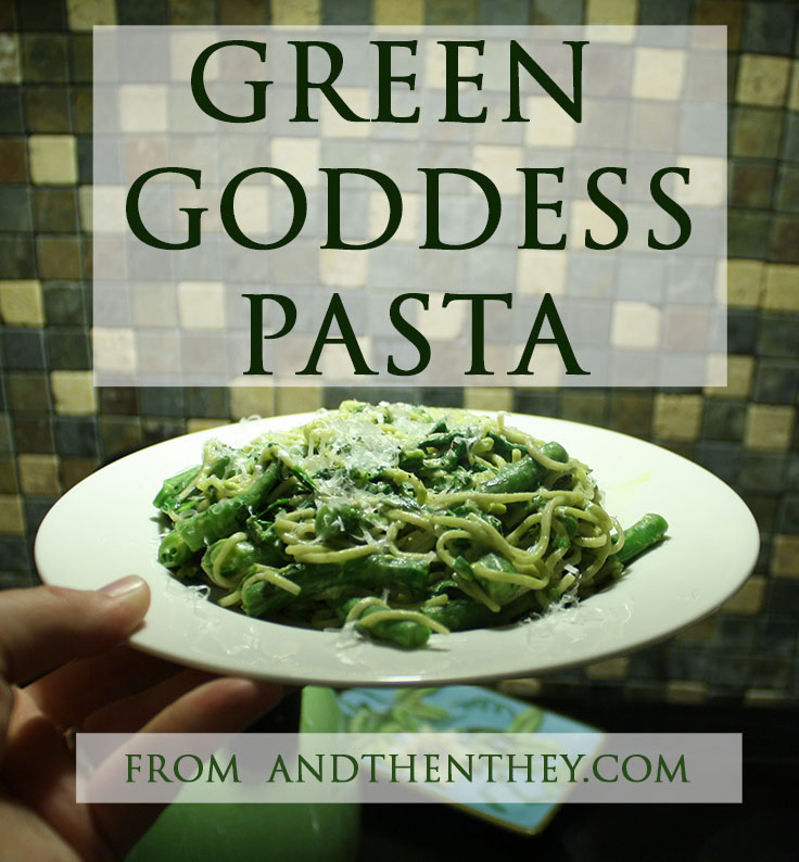 Green Goddess Pasta from ANDTHENTHEY