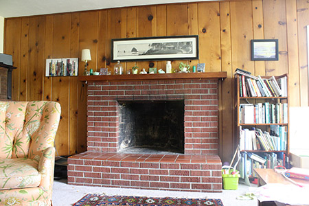 fireplace as is