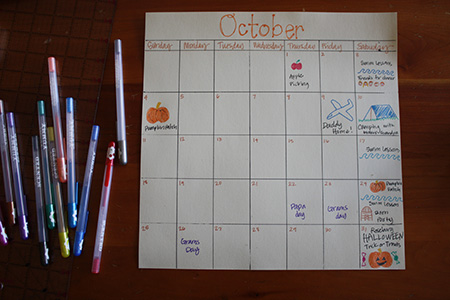 October andthenthey calendar