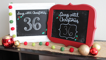Christmas Countdown Chalkboard - GIVEAWAY and DIY video by Megan Lenhardt