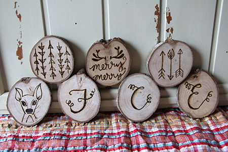 Wood Burned Ornaments - GIVEAWAY and Tips by Katrina Henry